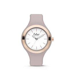 Colori - Macaron Horloge Macaron Grey/Lila 5-COL436