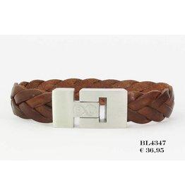 B & L Lederen Armband Cognac BL4347