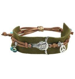Yehwang Armband Boho Charms Green