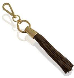 Yehwang Tas,- Sleutelhanger Tassel Dark Brown