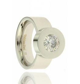 Fashion Jewelry RVS Ring Stones Silver