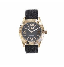 IKKI Horloge DARIA, DR08, 42mm, Black-Rose Gold