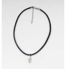 Sazou Jewels Choker Leaf Stainless Steel Handmade by Sazou