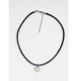 Sazou Jewels Choker Heart Stainless Steel Handmade by Sazou