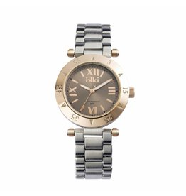 IKKI Horloge DAISY, D6M, 40mm Silver-Taupe-Rose