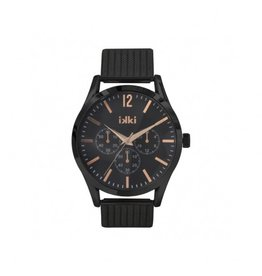 IKKI Horloge ZAC, ZC06, 45mm Black Rose Gold