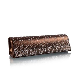 Giuliano Clutch-Avond Tas Stella 2 - Coffee