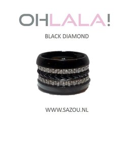 Ohlala Ring Set Black Diamond