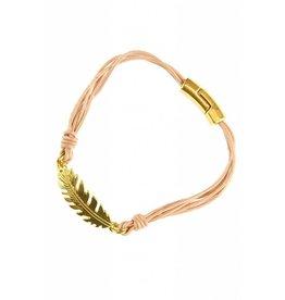 Fashion Jewelry Armband Feather Light Pink