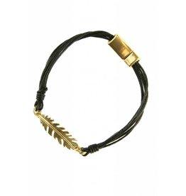 Armband Feather Black