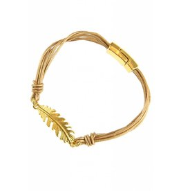 Fashion Jewelry Armband Feather Nude