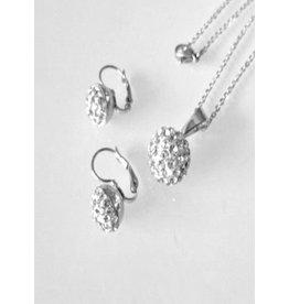 Fashion Jewelry Ketting en Oorbellen Set Bol Stainless Steel