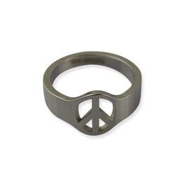Fashion Jewelry Ring Stainless Steel (RVS) Peace