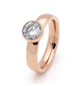 Fashion Jewelry Ring Stainless Steel Rose Plated