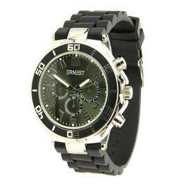 Ernest Horloge Silver Case Black Black 7069