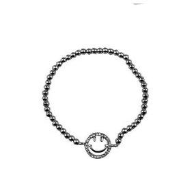 Fashion Jewelry Armband Shiny Smiley Zilver