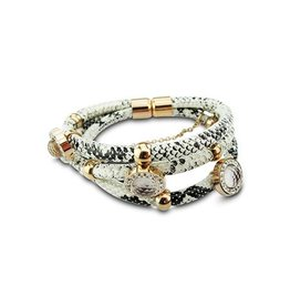 New Bling Armband Snake Leer Stainless Steel 20 cm