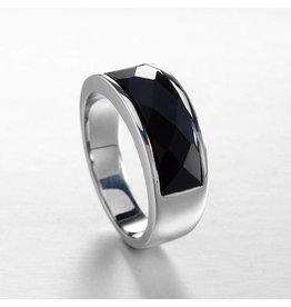 Ring 925 Sterling Zilver Black Agaat