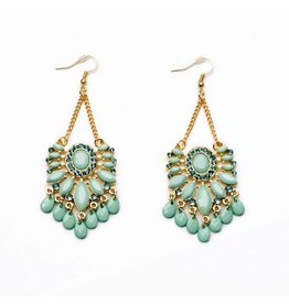 Fashion Jewelry Oorbellen Bohemian Gold - Turquoise