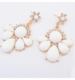 Fashion Jewelry Oorbellen Stekers Bohemian Gold - White