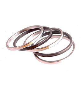 Fashion Jewelry Ring Set Stainless Steel 316L Zwart Zilver