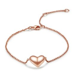 Fashion Jewelry Armband Stainless Steel Gold Plated met Hartje