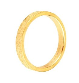 Ring Stainless Steel 316L Sanded - Gold