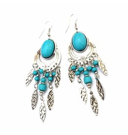 Fashion Jewelry Oorbellen Bohemian Turquoise