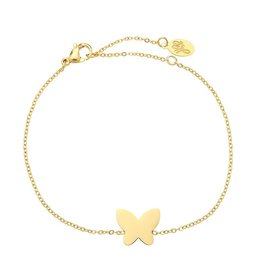 Yehwang Armband Stainless Steel Butterfly Gold