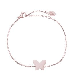 Yehwang Armband Stainless Steel Butterfly Rose