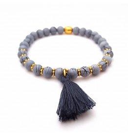 Sazou Jewels Armband Natural Stones Jeans Blue Gold