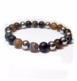 Sazou Jewels Armband Natural Stones Agaat Onyx SZ851