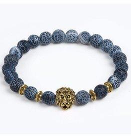 Sazou Jewels Armband Natural Stones Leeuw Goud