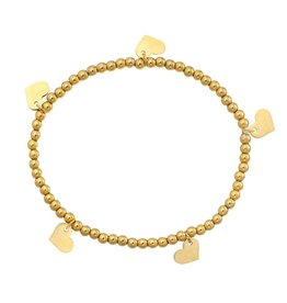 Yehwang Armband Lots Of Love Stainless Steel Gold Plated
