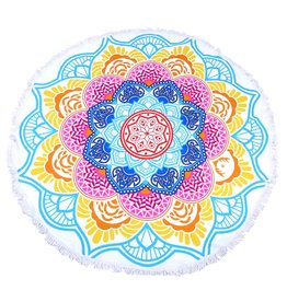 Round Beach Towel Hypnotic Flower