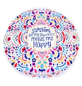 Round Beach Towel Sunshine
