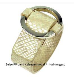 Fashion Jewelry Gesp Armband Beige