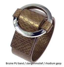 Fashion Jewelry Gesp Armband Bruin