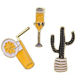 Fashion Jewelry Fashion Pins / Set van 3 / PINS010
