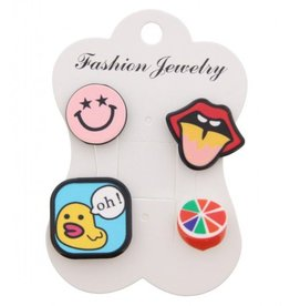 Fashion Jewelry Pins / Set van 4 / PINS006