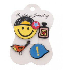 Fashion Jewelry Pins / Set van 4 / PINS002