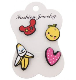 Fashion Jewelry Pins / Set van 4 / PINS008