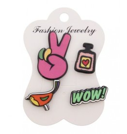 Fashion Jewelry Pins / Set van 4 / PINS003