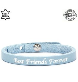 Armband Leer Best Friends Forever / Blue