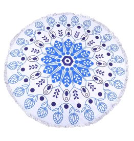 Round Beach Towel Blue Nature