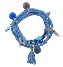 Armband Ibiza / Boho Wrap Blue