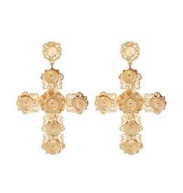 Yehwang Oorbellen Chique Big Cross - Gold