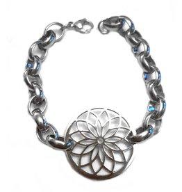 Fashion Jewelry Armband Stainless Steel Jasseron Flower
