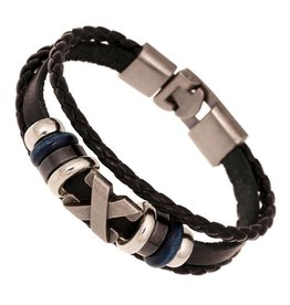 Sazou Jewels Armband Black Leather X