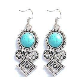 Fashion Jewelry Oorbellen Boho Turquoise
